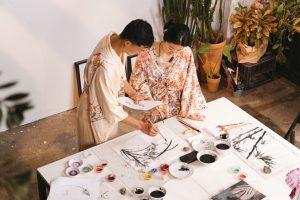 two students in montessori school