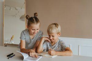 two children part of montessori education program