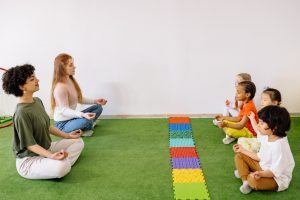 teacher creating positive learning environment